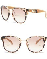 8f7f80986d7 Lyst - Prada 57mm Square Acetate Sunglasses in Green