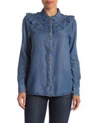 Velvet Heart - Pixie Ruffled Chambray Shirt - Lyst