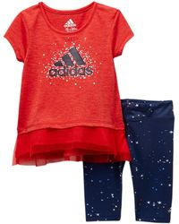adidas - Energy Capri Tight Set (baby Girls) - Lyst