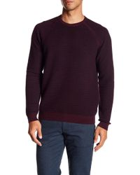 Ted Baker - Long Sleeve Textured Wool Crew Neck - Lyst
