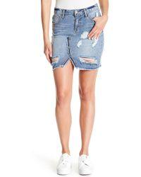 Jessica Simpson - Adorn High Rise Distressed Skirt - Lyst