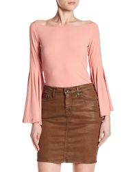 Haute Rogue - Off-the-shoulder Bell Sleeve Blouse - Lyst
