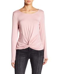 Love, Fire - Knot Accent Knit Top - Lyst