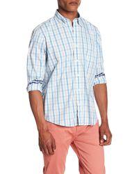 Tailor Vintage - Tri-color Gingham Print Performance Stretch Shirt - Lyst