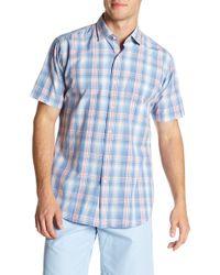 Peter Millar - Short Sleeve Atlantic Plaid Print Regular Fit Shirt - Lyst