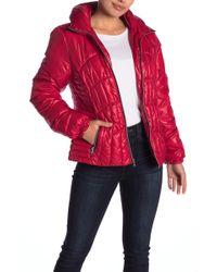 Guess - Zip Front Puffer Jacket - Lyst