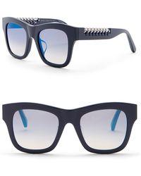 04c5e7635f Lyst - Stella McCartney Square Plastic Sunglasses W  Chain Arms in Gray