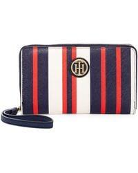 Tommy Hilfiger | Signature Painted Stripe Wristlet Wallet | Lyst