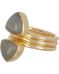 Sole Society - Illusion Stacked Ring - Size 7 - Lyst