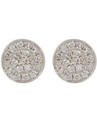 Ron Hami - 14k White Gold Micro Diamond Pave Circular Stud Earrings - 0.07 Ctw - Lyst