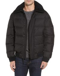 Andrew Marc - Pinnacle Quilted Down Jacket With Genuine Shearling Collar - Lyst