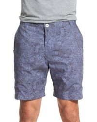 Descendant Of Thieves | 'fiore' Reversible Floral Print Woven Cotton Shorts | Lyst