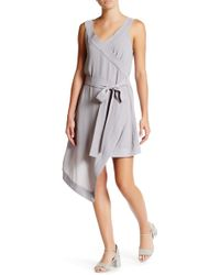 Six Crisp Days - Asymmetric Sleeveless Faux Wrap Dress - Lyst