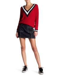 Six Crisp Days - Patch Pocket Denim Mini Skirt - Lyst