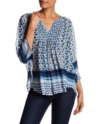 Casual Studio - V-neck Pleated Blouse - Lyst