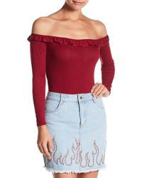 Honey Punch - Ruffle Bodysuit - Lyst