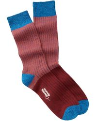 Unsimply Stitched | Large Stripe Boot Socks | Lyst