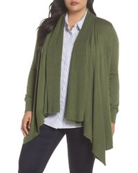 Sejour - Waterfall Cardigan (plus Size) - Lyst