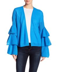 Minnie Rose - Tiered Bell Sleeve Cashmere Cardigan - Lyst