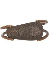 Tomas Maier - Brass Textured Cuff Bracelet - Lyst