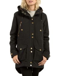 Volcom - Walk On By Hooded Parka - Lyst