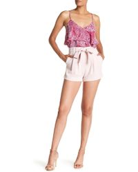 Parker - High Waisted Crepe Shorts - Lyst