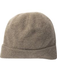 6cac01140099e Portolano Slouchy Cashmere Hat in Blue - Lyst