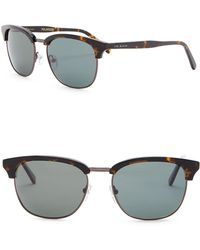 c297247660 Lyst - Ted Baker 99mm Rectangular Wrap Sunglasses in Brown for Men