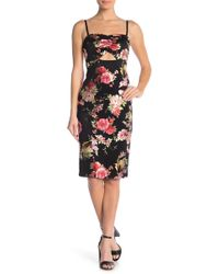 Material Girl - Floral Print Bodycon Dress - Lyst