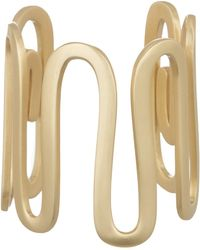 Elizabeth and James - Clark White Topaz Squiggle Cuff Bracelet - Lyst
