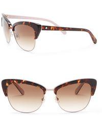 Kate Spade - Genette 56mm Clubmaster Sunglasses - Lyst