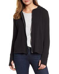 Caslon - Off-duty Zip Front Hooded Jacket - Lyst