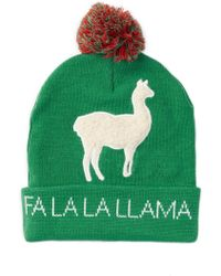 Bioworld - Fa La La Llama Pompom Beanie - Lyst