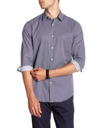 Calibrate - Trim Fit Micro Collar Sport Shirt - Lyst