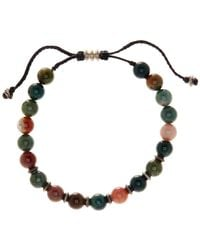 Link Up - 8mm Moss Agate Beaded Cord Bracelet - Lyst