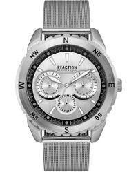 Kenneth Cole Reaction - Men's Reaction Stainless Steel Mesh Bracelet Watch 46x53mm 10030937 - Lyst
