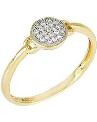 Bony Levy - 18k Yellow Gold Diamond Circle Ring - 0.06 Ctw - Lyst