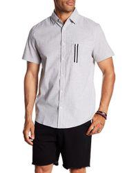 Sovereign Code - Kidd Zigzag Stripe Short Sleeve Regular Fit Shirt - Lyst