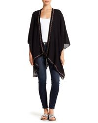 Roffe Accessories - Open Front Embroidered Kimono - Lyst