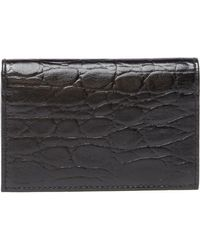 Bosca - Victoria Croc Embossed Leather Card Case - Lyst