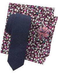 Original Penguin - Bordallo Dot Tie, Pocket Square, & Lapel Pin Set - Lyst