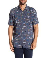 Barney Cools - Holiday Fish & Mammal Print Short Sleeve Regular Fit Shirt - Lyst