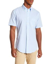 Brooks Brothers - Checkered Short Sleeve Sport Fit Shirt - Lyst