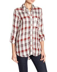 Love, Fire - Plaid Printed Shirt - Lyst