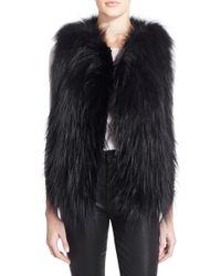 Tasha Tarno   Open-Front Fox Fur Vest   Lyst