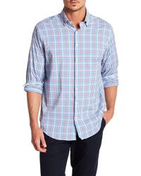 Peter Millar - Gingham Mickey Performance Athletic Fit Shirt - Lyst
