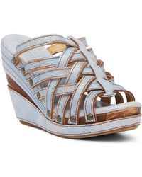 Bed Stu - Josie Leather Wedge Sandal - Lyst