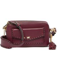 48920d1796e1 Lyst - MICHAEL Michael Kors Sloan Medium Chain Denim Shoulder Bag in ...