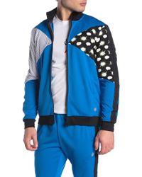 29ee1066afc Lyst - adidas Originals Windbreaker In Chaos Print in Blue for Men