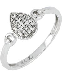 Bony Levy - 18k White Gold Diamond Pear Shape Ring - 0.08 Ctw - Lyst